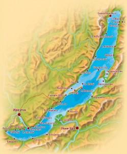 Карта Байкала   Экзотик Азия Тур